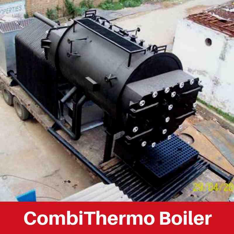 water tube threepass boiler for rubber industry