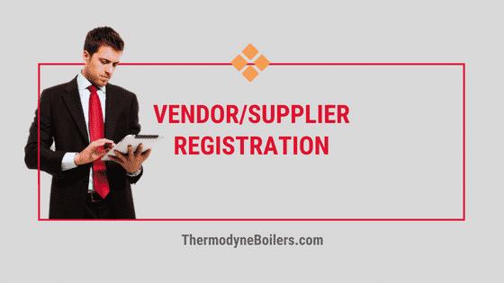 Vendor Registration Form thermodyne